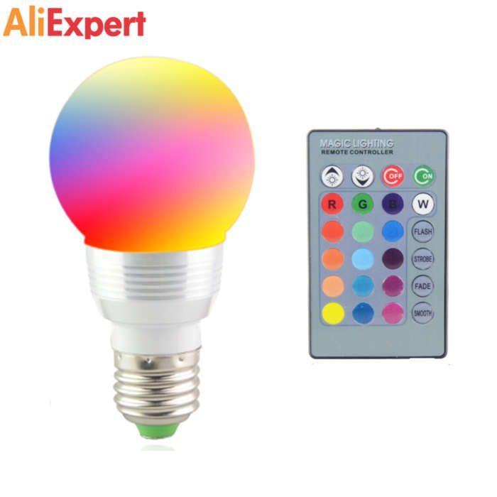 ЦВЕТНАЯ RGB LED ЛАМПА НА АЛИЭКСПРЕСС прикольные, интересные, крутые, полезные, лучшие товары, находки, нужные вещи для дома, декор