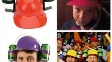 Fashion-Fun-Unique-Cool-Party-holiday-Game-Beer-Soda-Dual-Can-Holder-Straw-Drinking-Hard-Hat