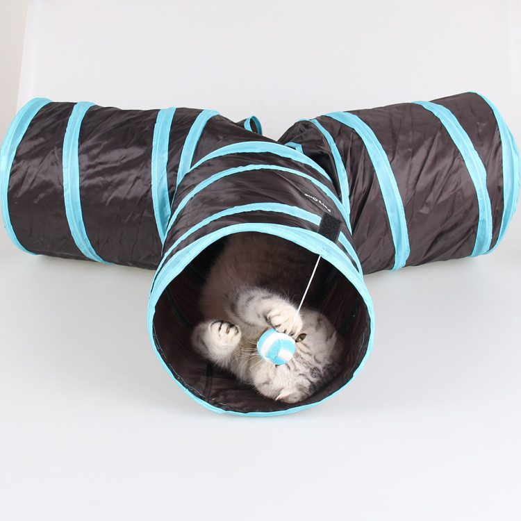 Pet-Tunnel-Cat-Tunnel-Toy-With-Ball-Play-Fun-Toy-Tunnel-3-holes-foldable