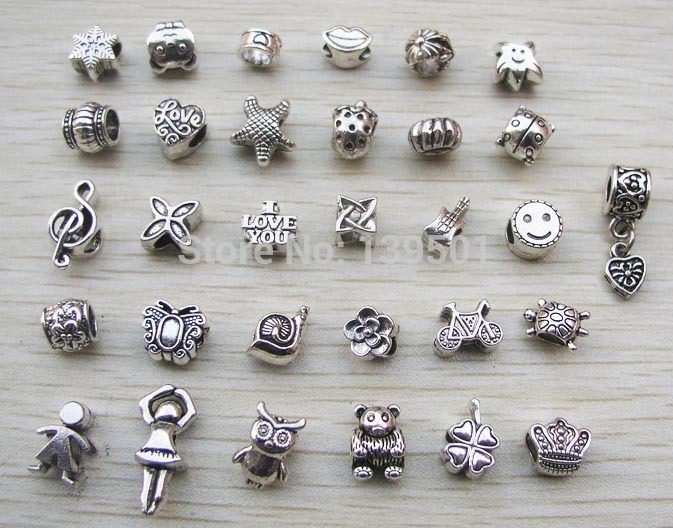 Free-Shipping-31pcs-mix-style-antique-silver-plated-alloy-big-hole-charms-beads-fit-pandora-bracelet