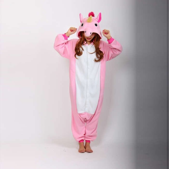 Cosplay-Romper-Charactor-animal-Hooded-PJS-Pajamas-Xmas-gift-Adult-Costume-sloth-outfit-Sleepwear-Blue-Unicorn