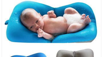 Infant-Baby-Bath-Pad-Non-Slip-Bathtub-Mat-NewBorn-Safety-Security-Bath-Seat-Support-Baby-Shower