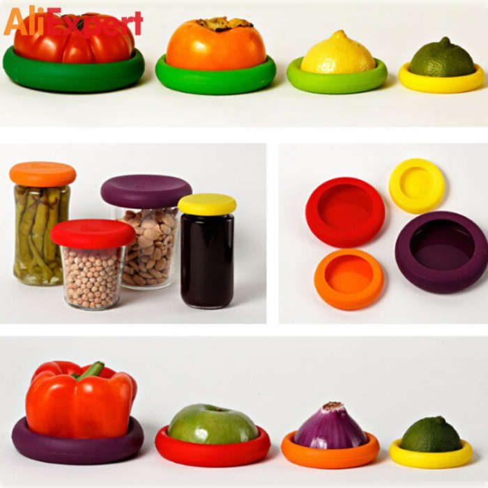 food-vegetable-huggers-silicone-fruit-food-savers-hugger-heat-resistant-kitchen-reusable-lids-colorful-covers-set