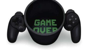 free-shipping-1piece-game-over-ceramic-mug-retro-gamepad-controller-coffee-mug-gaming-style-office-cup