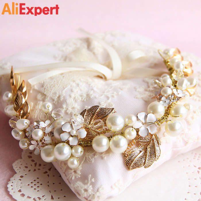 gold-leaf-hair-ornaments-wedding-hair-accessories-bridal-pearl-jewelry-beads-headpiece-bride-headwear-headband