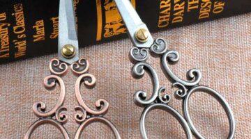 antique-european-vintage-scissors-13x5-5cm-cloud-pattern-dressmaker-shears-sewing-scissors-fabric-craft-cp0709