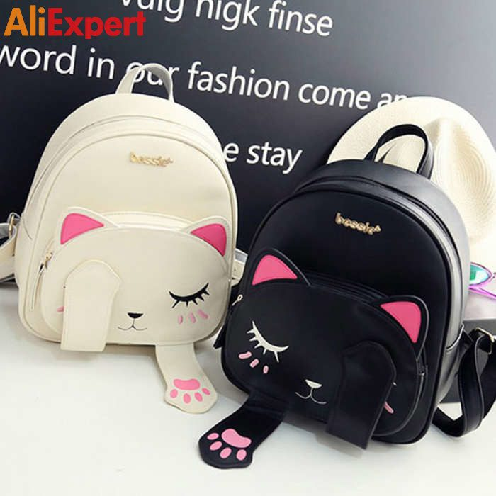 cat-backpack-black-preppy-style-school-backpacks-funny-quality-pu-leather-fashion-women-shoulder-bag-travel