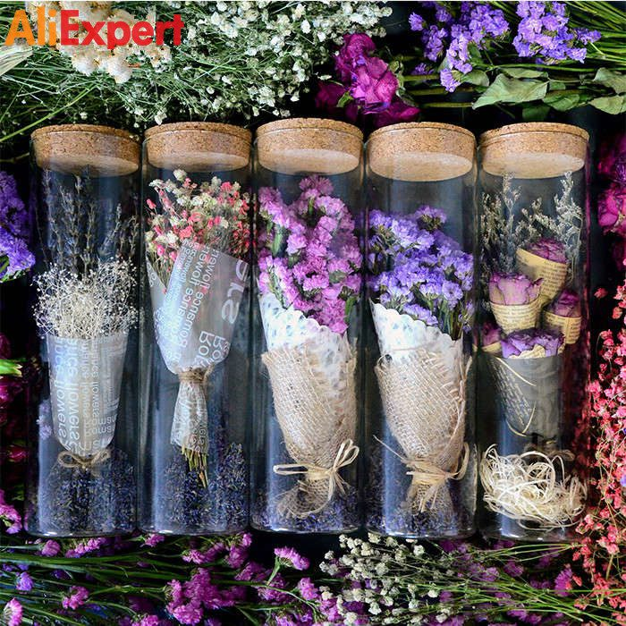 natural-dried-flower-glass-bottle-purple-myosotis-preserved-flower-wedding-gift-christmas-gift-home-decoration-diy