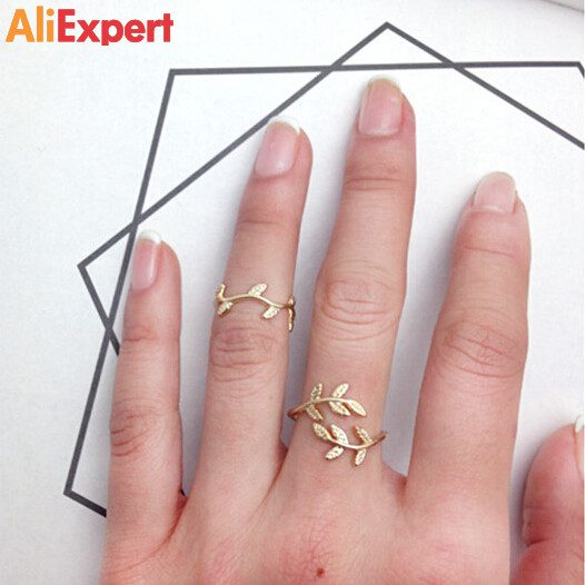 top-selling-vintage-cute-leaves-ring-for-women-good-quality-jewelry-fashion-gold-and-silver-leaf