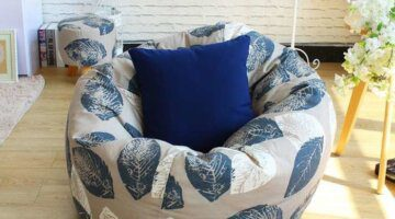Blue-leaves-Style-Bean-Bag-Chair-Garden-Camping-Beanbag-Cover-And-The-lazy-Sofa-Cover-Can