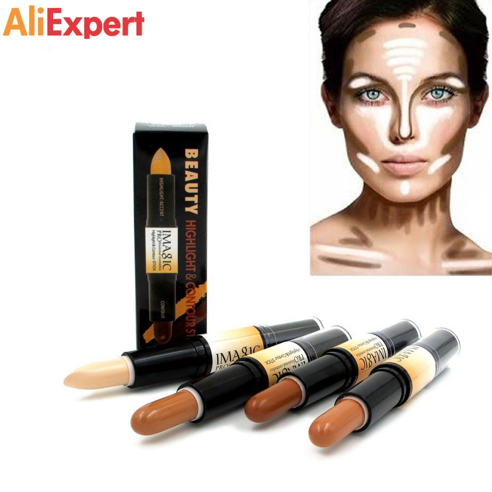 -IMAGIC-Makeup-Creamy-Double-ended-Contour-Stick-Contouring-Highlighter-Bronzer-Create3D-FaceMakeup-Concealer-Full-Cover