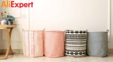 40-50CM-Stripe-Cotton-Linen-Dirty-Clothes-Laundry-Basket-Pouch-1PC-Japanese-Style-Large-Buckets-Bags