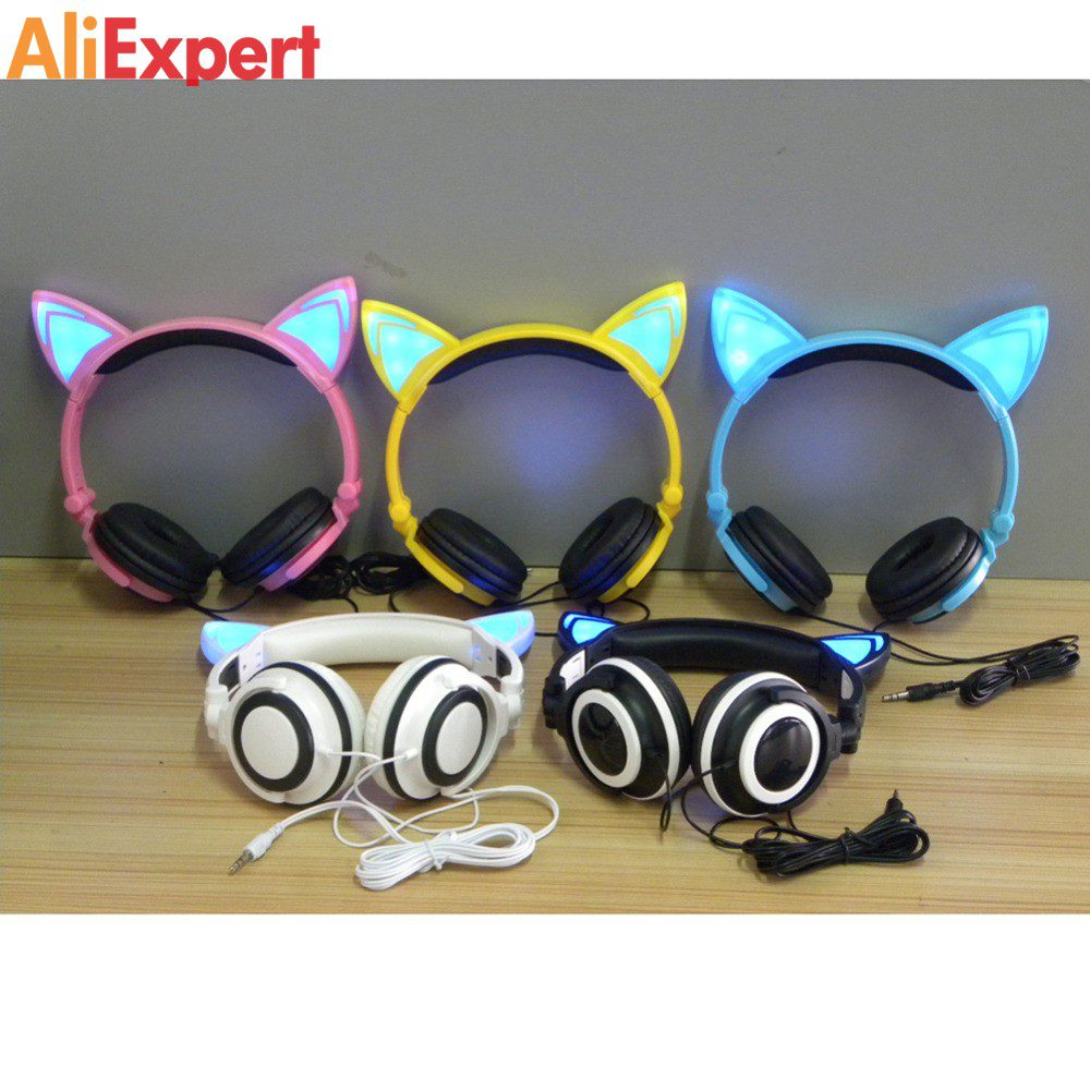 Foldable-Flashing-Glowing-cat-ear-headphones-Gaming-Headset-Earphone-with-LED-light-For-PC-Laptop-Computer