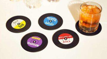 New-Arrival-6pcs-lot-Useful-Food-Grade-Creative-Plastic-Rubber-Circular-Record-Black-Vinyl-Coaster-Cup