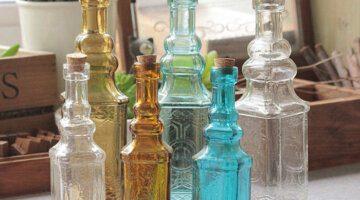 Small-Vintage-Carved-Glass-Vase-Tower-Vase-For-Home-Decoration-Photo-Prop-Vintage-Glass-Bottle-Green
