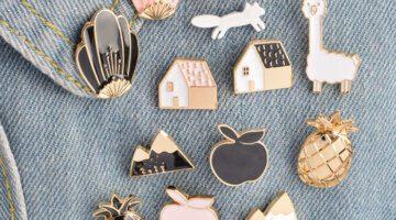 12pcs-set-Pineapple-Apple-House-Fox-Snow-Mountain-Shell-Brooch-Button-Pins-Denim-Jacket-Pin-Badge