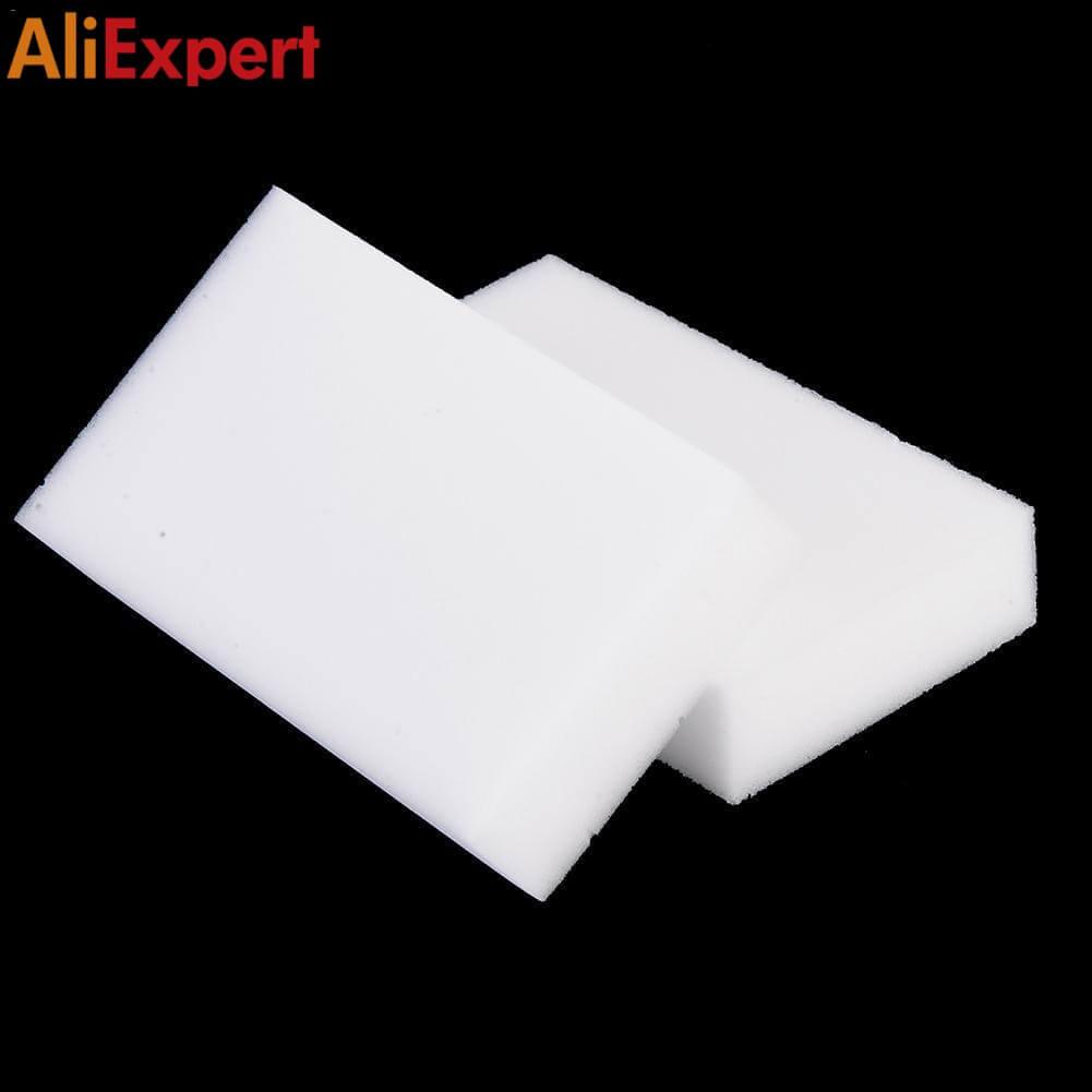 100pcs White Melamine Sponge Magic Clean Sponge Eraser For Kitchen Office Bathroom Dish Cleaning Nano 1006020mm Dropshipping