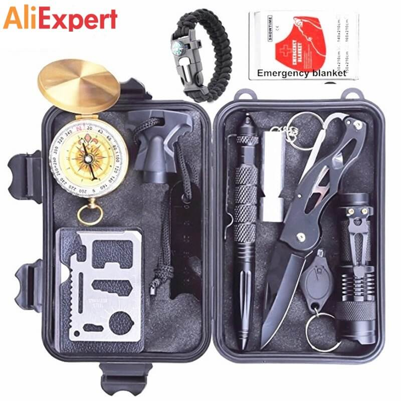 Survival Kit Outdoor Portable Emergency Tourism Equipment Camping Survival Tools Military