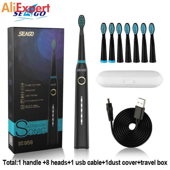 Ультразвуковая зубная щётка Seago НА АЛИЭКСПРЕСС прикольные, интересные, крутые, полезные, лучшие , находки, покупки, гаджеты, аксессуары