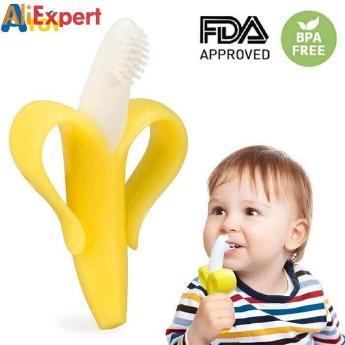 Детский прорезыватель банан НА АЛИЭКСПРЕСС прикольные, интересные, крутые, полезные, лучшие , находки, покупки, гаджеты, аксессуары