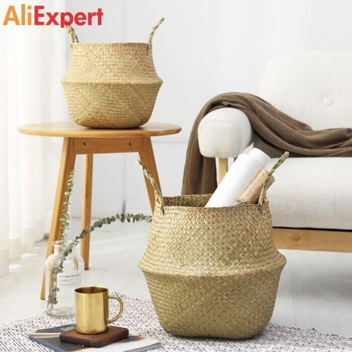 Экологические корзины для хранения. НА АЛИЭКСПРЕСС прикольные, интересные, крутые, полезные, лучшие , находки, покупки, гаджеты, аксессуары