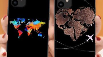 Фантастический чехол с картой мира