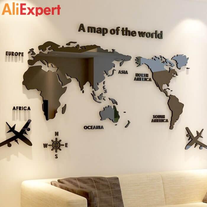 Декоративная карта мира на стену НА АЛИЭКСПРЕСС прикольные, интересные, крутые, полезные, лучшие , находки, покупки, гаджеты, аксессуары