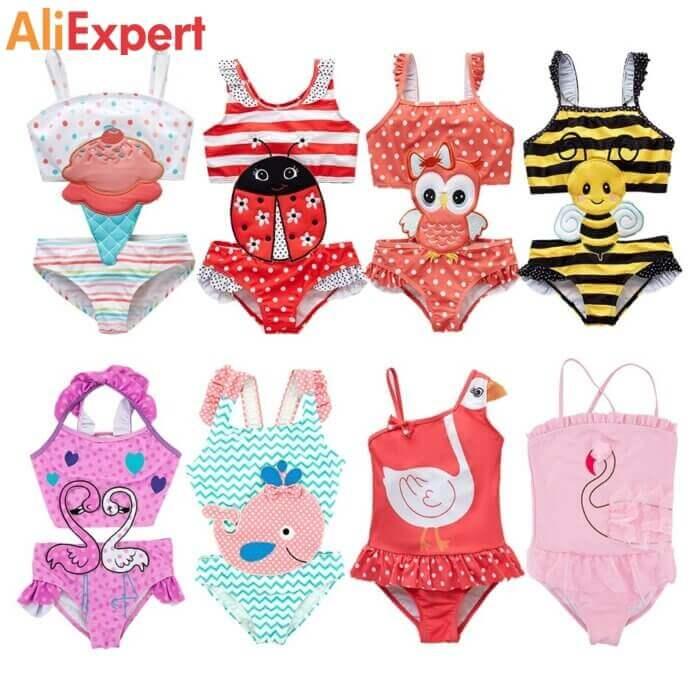 Красочные детские купальники НА АЛИЭКСПРЕСС прикольные, интересные, крутые, полезные, лучшие , находки, покупки, гаджеты, аксессуары